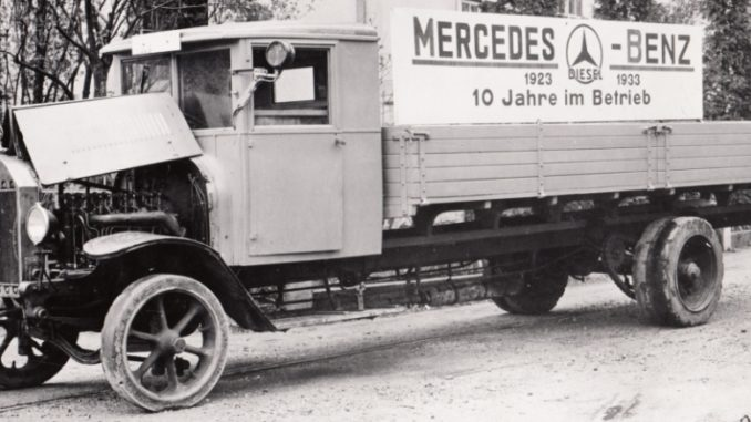 The world's first ever diesel trucks from Benz and Daimler in 1923